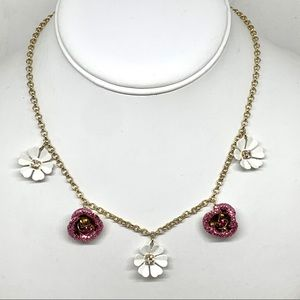 Betsey Johnson Floral Necklace NWT